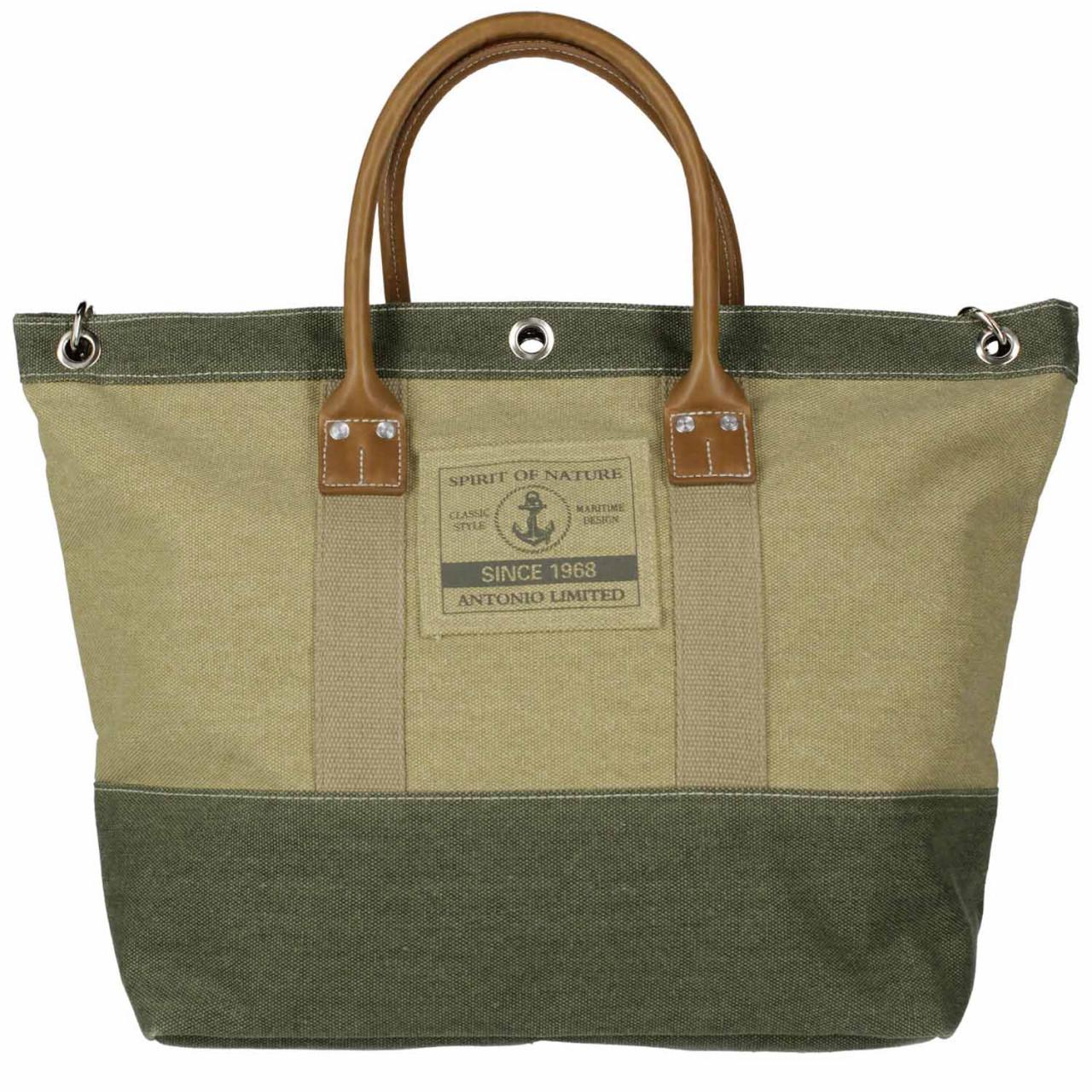 Antonio Strandtasche M, Beach Bag, Casual Spirit beige+olive