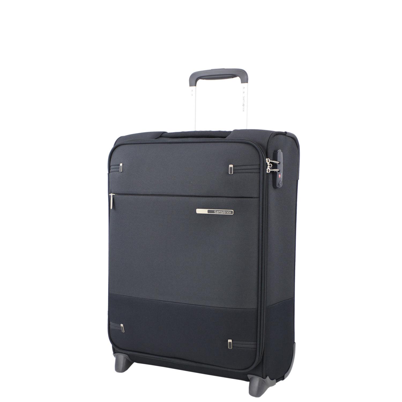 samsonite upright 55 20 length 40cm 2 rollen koffer base boost black ebay. Black Bedroom Furniture Sets. Home Design Ideas